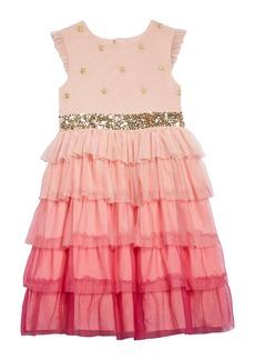 Mini Boden Harry Potter Yule Ball Tiered Tulle Party Dress (Toddler Girls, Little Girls & Big Girls)