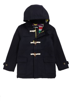 Mini Boden Hooded Duffle Coat (Toddler Boys, Little Boys & Big Boys)