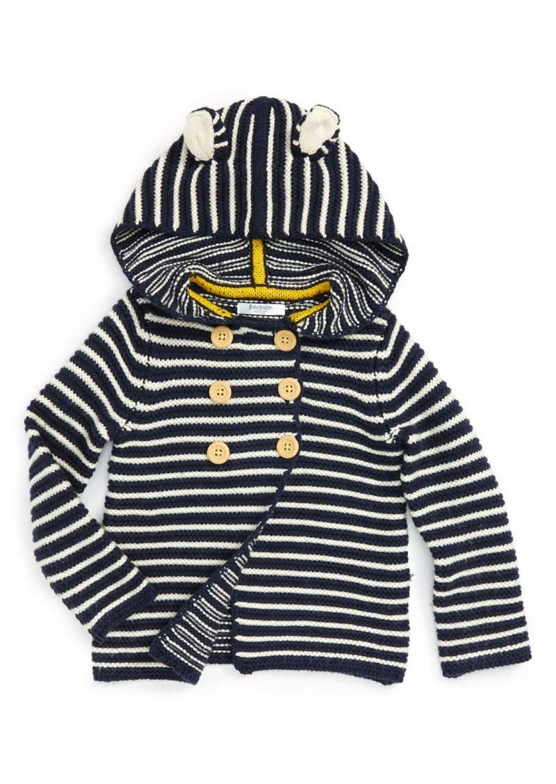 Mini Boden Hooded Knit Jacket (Baby Boys & Toddler Boys)