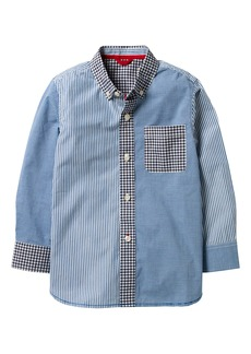 Mini Boden Hotchpotch Laundered Shirt (Toddler Boys, Little Boys & Big Boys)