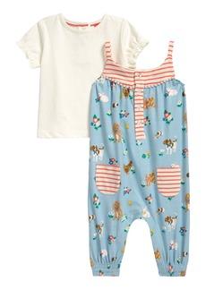 Mini Boden Hotchpotch Romper & T-Shirt Set (Baby)