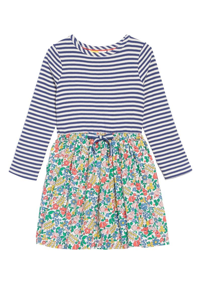 e4d2a6730a42 Mini Boden Hotchpotch Tie Waist Dress (Toddler Girls, Little Girls & Big  Girls)