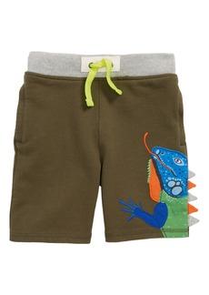 Mini Boden Iguana Appliqué Sweatshorts (Toddler Boys, Little Boys & Big Boys)