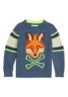 Mini Boden Intarsia Fox Sweater (Toddler Boys, Little Boys & Big Boys)