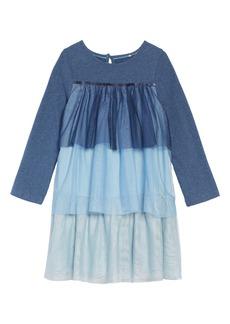 Mini Boden Jersey & Tulle Dress (Toddler Girls, Little Girls & Big Girls)