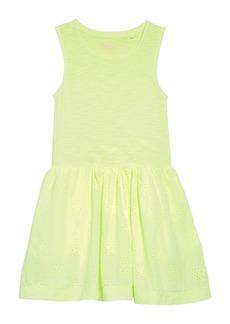 Mini Boden Jersey & Woven Dress (Little Girls & Big Girls)