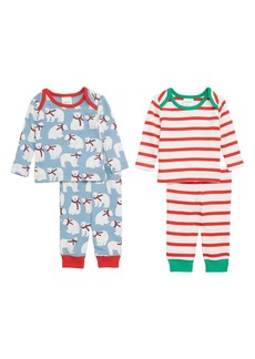 Mini Boden Jersey 2-Pack T-Shirt & Pants Set (Baby)