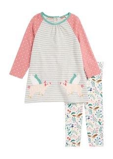 Mini Boden Jersey Dress & Leggings Set (Baby Girls & Toddler Girls)