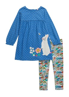 Mini Boden Jersey Dress Set (Toddler Girls)