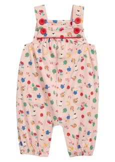 Mini Boden Jersey Dungaree Romper (Baby)