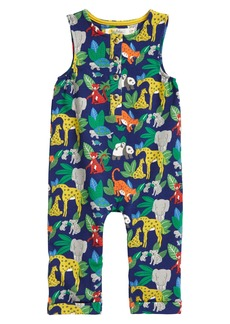Mini Boden Jersey Jungle Print Romper (Baby)