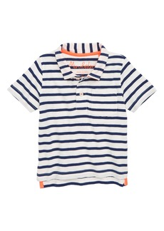 Mini Boden Jersey Stripe Polo (Toddler Boys, Little Boys & Big Boys)