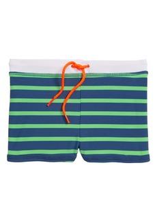 Mini Boden Jersey Swim Trunks (Toddler Boys, Little Boys & Big Boys)