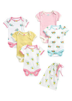 Mini Boden Jungle Bodies Assorted 5-Pack Bodysuits (Baby)
