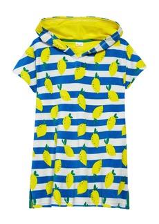 Mini Boden Kids' Citrus & Stripe Toweling Poncho (Toddler, Little Girl & Big Girl)