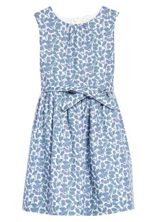 Mini Boden Kids' Floral Print Fit & Flare Dress (Toddler, Little Girl & Big Girl)