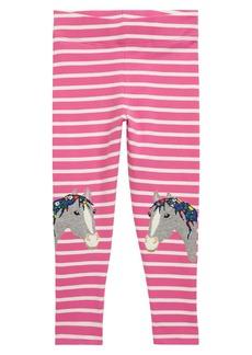 Mini Boden Kids' Horse Appliqué Leggings (Toddler, Little Girl & Big Girl)