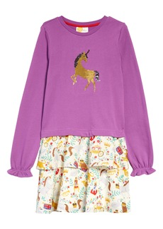 Mini Boden Kids' Sequin Horse Dress (Toddler, Little Girl & Big Girl)