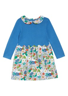 Mini Boden Knit Long Sleeve Dress (Toddler Girls)