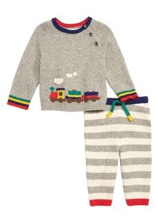 Mini Boden Knit Sweater & Leggings Set (Baby)