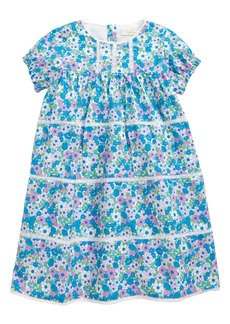 Mini Boden Lace Trim Print Dress (Baby & Toddler Girls)