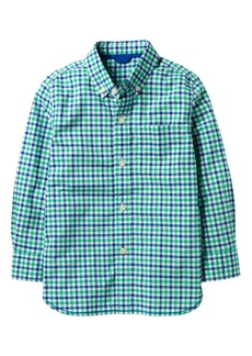 Mini Boden Laundered Gingham Shirt (Toddler Boys, Little Boys & Big Boys)