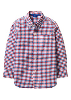 Mini Boden Laundered Gingham Woven Shirt (Toddler Boys, Little Boys & Big Boys)