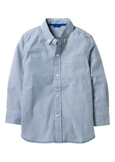 Mini Boden Laundered Stripe Woven Shirt (Toddler Boys, Little Boys & Big Boys)