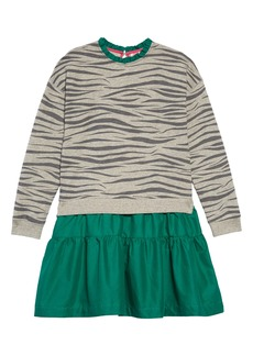 Mini Boden Layer Look Long Sleeve Dress (Toddler Girls, Little Girls & Big Girls)