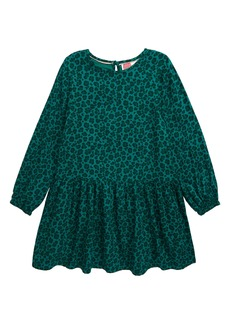 Mini Boden Leopard Spot Ruffle Dress (Toddler Girls, Little Girls & Big Girls)