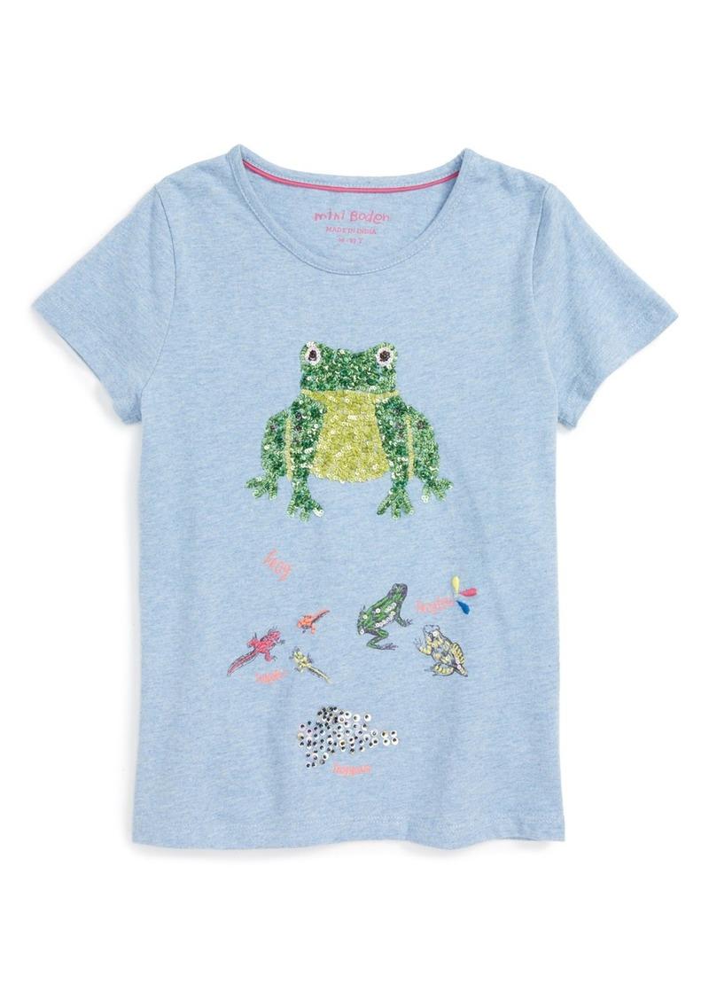 Mini Boden 'Lifecycle' Sequin Cotton Tee (Little Girls & Big Girls)