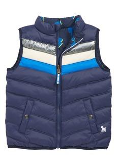 Mini Boden Lightning Bolt Reversible Quilted Vest (Toddler Boys, Little Boys & Big Boys)