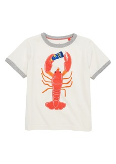 Mini Boden Lobster Appliqué Shirt (Toddler Boys, Little Boys & Big Boys)