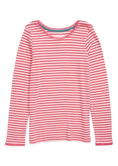 Mini Boden Long Sleeve Pointelle Tee (Toddler Girls, Little Girls & Big Girls)