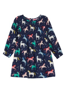 Mini Boden Long Sleeve Smocked Dress (Toddler Girls, Little Girls & Big Girls)