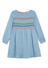 Mini Boden Long Sleeve Smocked Dress (Toddler Girls, Little Girls & Big Girls)