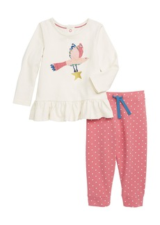 Mini Boden Magical Appliqué Tee & Leggings Set (Baby Girls & Toddler Girls)
