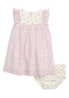 Mini Boden Mixed Floral Print Woven Dress (Baby)