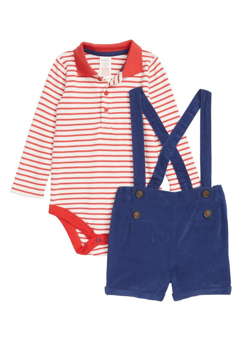35bf0af5b6cb Mini Boden Mini Boden Nostalgic Bodysuit   Suspender Shorts Set ...