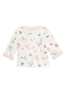 Mini Boden Nursery Reversible Organic Cotton Jacket (Baby Girls)