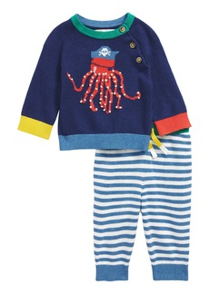 Mini Boden Octopus Sweater & Pants Set (Baby Boys & Toddler Boys)