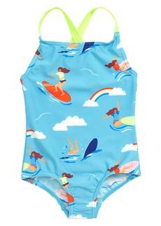Mini Boden One-Piece Cross-Back Swimsuit (Toddler Girls, Little Girls & Big Girls)