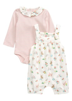 Mini Boden Organic Cotton Bodysuit & Dungaree Overalls Set (Baby)