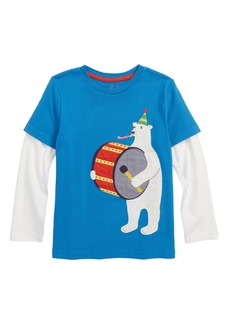 Mini Boden Party Animal Appliqué Layer T-Shirt (Toddler Boys, Little Boys & Big Boys)