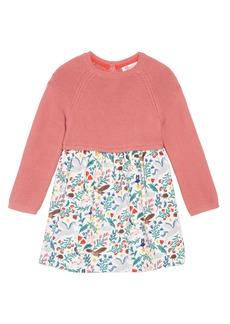 Mini Boden Peculiar Pets Knit Dress (Baby Girls & Toddler Girls)