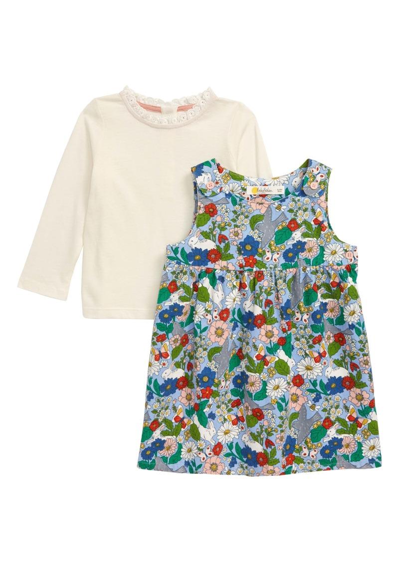 Mini Boden Pinnie Long Sleeve Top & Corduroy Dress Set (Baby)