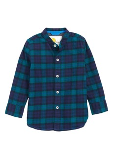 Mini Boden Plaid Shirt (Toddler Boys, Little Boys & Big Boys)