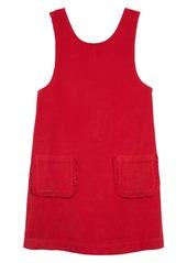 Mini Boden Pocket Corduroy Pinafore Dress (Toddler Girls, Little Girls & Big Girls)