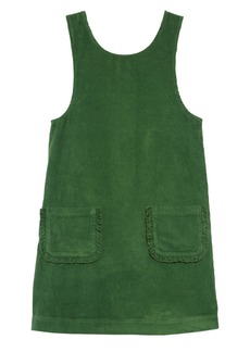 Mini Boden Pocket Corduroy Pinafore Dress (Toddler Girls, Little Girls & Big Girls)