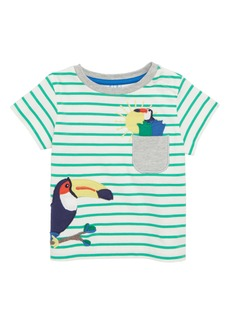 Mini Boden Pocket Friends T-Shirt (Baby Boys)
